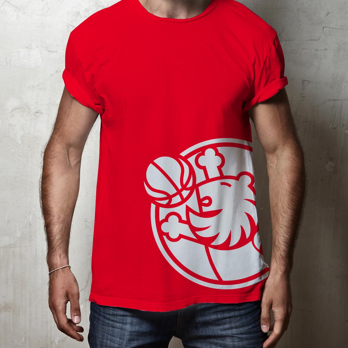 Set of blank t-shirts